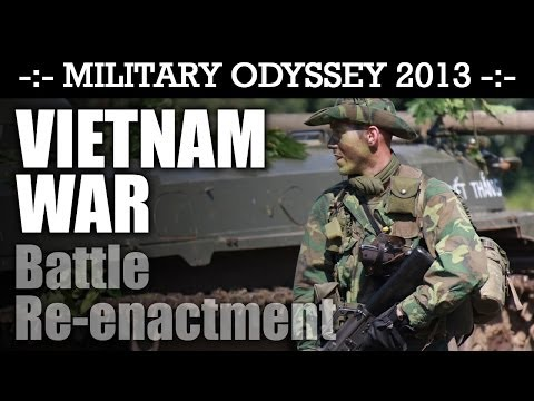 Vietnam War Battle Reenactment WHAT A DEBUT DISPLAY! Military Odyssey 2013   HD Video