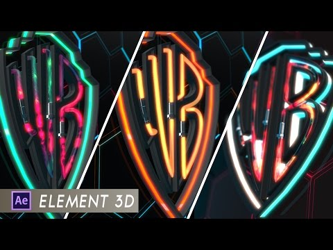 Warner Bros. Logo Template Tutorial |Element 3D| |After effects|
