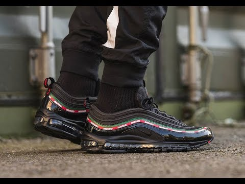 gucci x nike air max 97 first look!! On foot !!!!! - YouTube 5b36b57bd