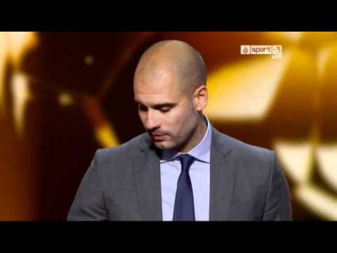"Pep"" GuardiolaCoach  of 2011 award FIFA Ballon d'Or 09/1/ 2012"