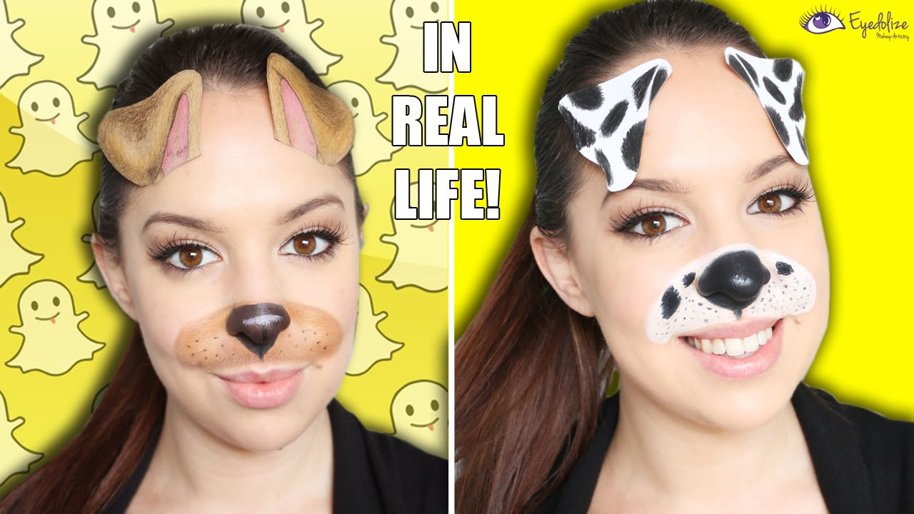 Snapchat in Real Life! Dog Filter Makeup Tutorial ...