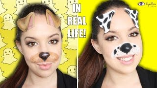 Snapchat in Real Life! Dog Filter Makeup Tutorial by EyedolizeMakeup