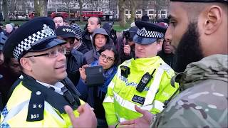 POLICE WITH LAW DEGREE GETS OWNED BY MUSLIM | MOHAMMED HIJAB | SPEAKERS CORNER