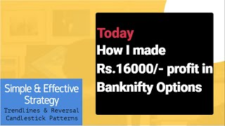 How I made Rs.16000/- profit in Banknifty today / #Banknifty Option Strategy + tomorrow's analysis