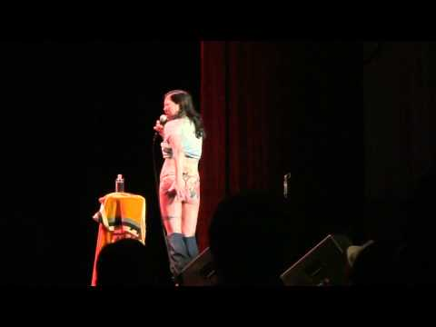 Margaret Cho shows off her tattoos @ Cornell University