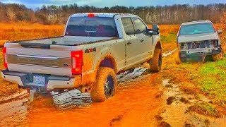 Ford F350 Platinum MUDDING 4X4!