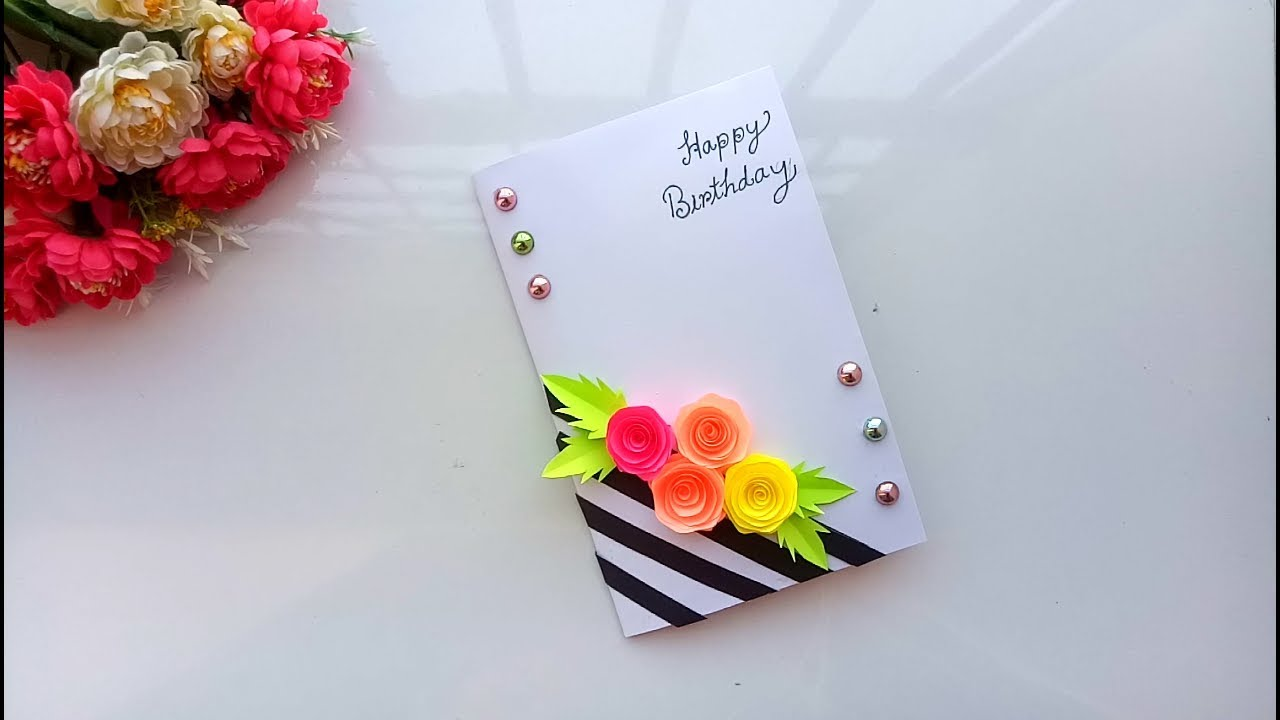 Beautiful Handmade Birthday Card Birthday Card Idea