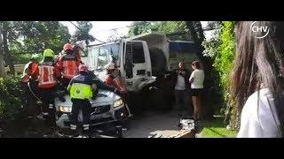Camión fuera de control provocó accidente en Las Condes - CHV NOTICIAS