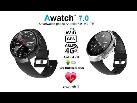b65d93979 Awatch 7.0 4G LTE smartwatch phone camera, 16 GB memory GPS wifi heart rate  mtk6737 lem7 z28 lemfo