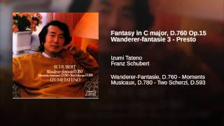 Fantasy in C major, D.760 Op.15 Wanderer-fantasie 3 - Presto