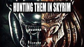 More Predator and Xenomorph Fun In Skyrim Remastered! Wear the Armor of The Predator in Skyrim