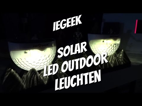 ieGeek LED Outdoor Solar Leuchten Set im Test Review Deutsch