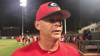 Georgia baseball coach Scott Stricklin
