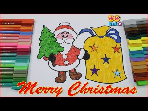 Santa Coloring Pages for Toddlers | Christmas Coloring video | Learn Colors for Kids with Santa