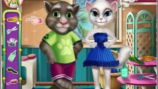 Игры для детей: игры для девочек. Игра одевалка. Анжела шьет костюм для Тома. Анжела и Том
