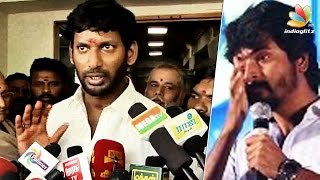 I'll stand by Sivakarthikeyan because I suffered the same : Vishal Speech | Producers Fight