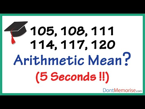 Arithmetic Mean or Median of AP ( GMAT / GRE / CAT / Bank PO / SSC CGL)