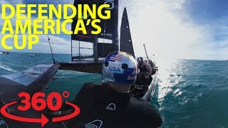 Fly above the water with Oracle Team USA in 360