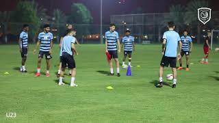 التمرين الأخير للدحيل تحت 23 سنة للقاء أم صلال في الجولة الخامسة من دوري قطر غاز