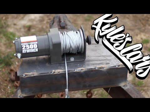 Repeat Mounting a Harbor Freight Winch on my trailer using