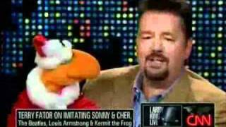 Terry Fator at Larry King Live over Chri...