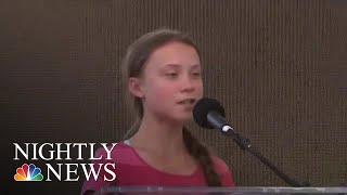 Teen Activist Greta Thunberg Leads Global Climate Protest | NBC Nightly News