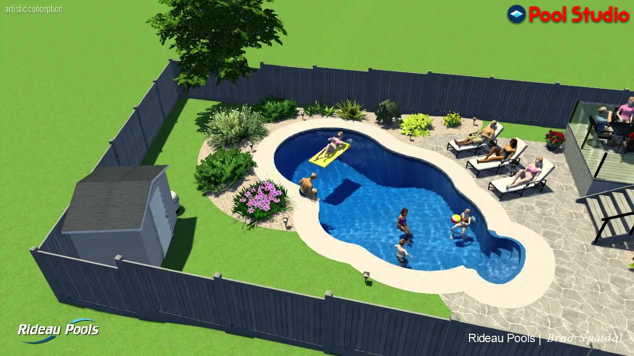 14 X 28 Caribbean Inground Pool By Rideau Pools Ottawa