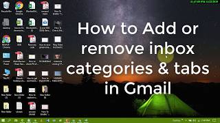 How to Add or remove inbox categories & tabs in Gmail