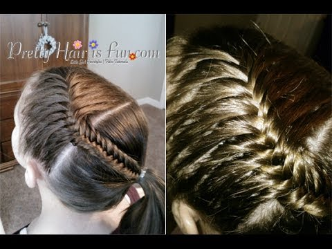 How To French Fishtail Braid Ponytail Pretty Hair Is Fun Youtube