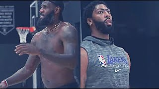 LEBRON JAMES AND ANTHONY DAVIS LAST PRACTICE BEFORE ORLANDO BUBBLE!