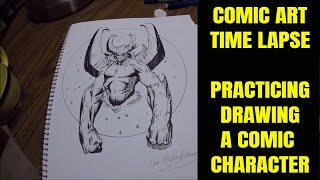 Gambar cover Learning How to Draw Comic Art (Time-Lapse)