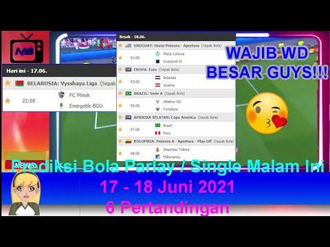 Prediksi Bola Malam Ini 17 - 18 Juni 2021/2022 - Mix Parlay | UEFA EURO 2020 | Belanda vs Austria