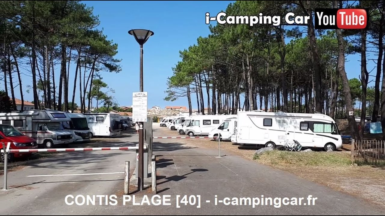 Aire Camping Cars Contis Plage 40 Landes Youtube