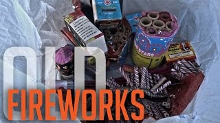 LIGHTING OLD FIREWORKS FOUND IN DUMPSTER