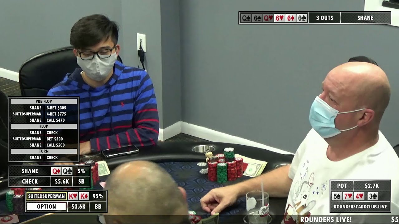 Rounders Live Hand Of The Night Kk V Qq In A Massive Pot Youtube