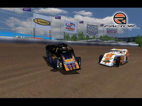 rFactor - Dirt Modified TDR/ODC - Belle-Clair Speedway (12 Lap Race)