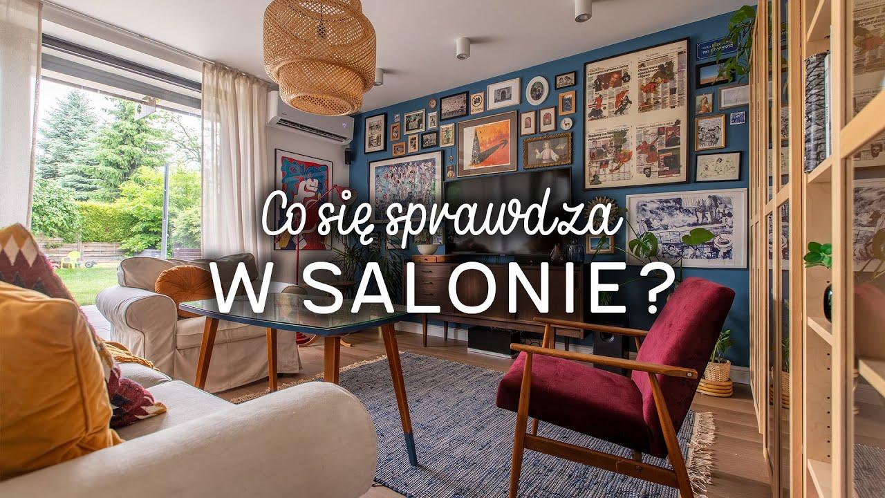 Rodzinny salon z galerią ścienną i meblami z drugiej ręki | Wnętrza Zewnętrza x IKEA