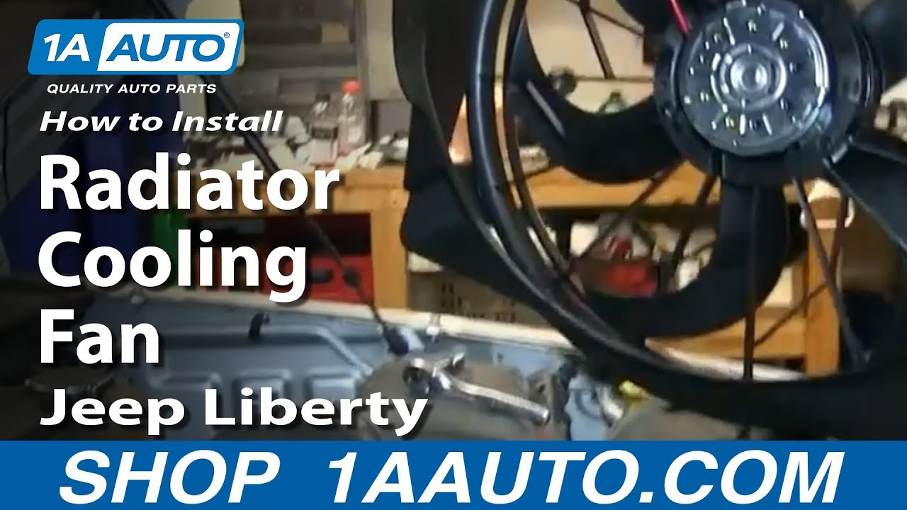 How To Install Replace Radiator Cooling Fan 200607 Jeep