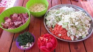 Овощное рагу с мясом!