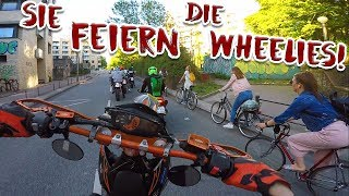 Krasse Reaktion auf Wheelies! | Hamburg Wheelie Kidz