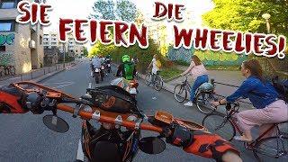 Krasse Reaktion auf Wheelies! | Hamburg Wheelie Kidz