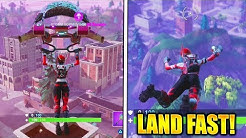 how to land before anyone fortnite how to land faster in fortnite battle royale duration 4 23 - how to fall faster fortnite