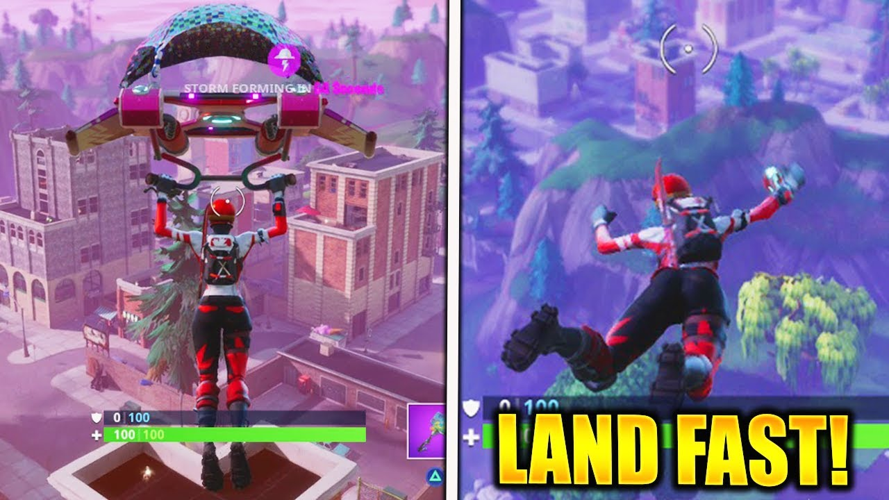 how to get to land faster in fortnite