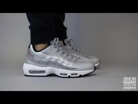 air max 95 silver bullet on feet