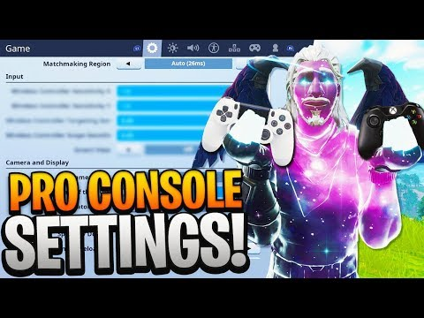 The BEST Fortnite CONSOLE SETTINGS! PRO PLAYER SETTINGS on CONTROLLER PS4/XBOX ONE! (Fortnite Tips)