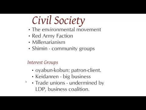 Japanese political society & culture