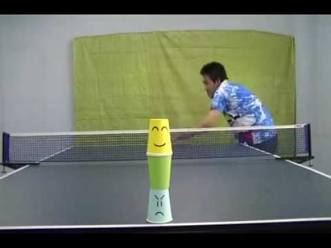 Funny table tennis player