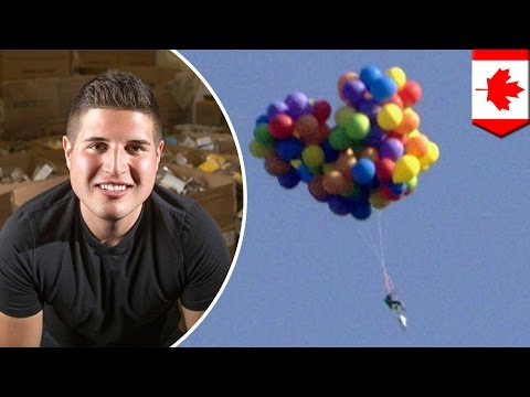 Balloon chair: Man who flew balloon chair across Canada forced to pay $26,500 for stunt - TomoNews