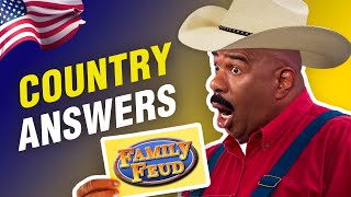 "Yee-Haw! Steve Harvey loses his mind over the funniest ""country"" answers and accents on Family Feud!"