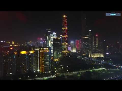 guangzhou city drone view